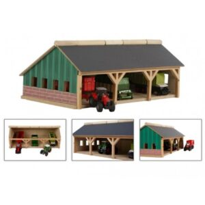 Kids Globe Træ Garage 1:87